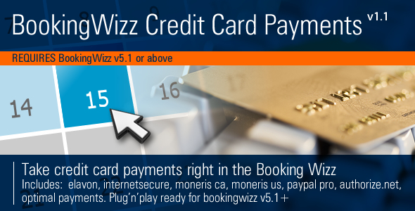 CodeCanyon BookingWizz Credit Card Payments 2424321