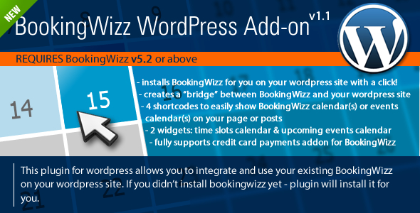 CodeCanyon BookingWizz for Wordpress 2602153
