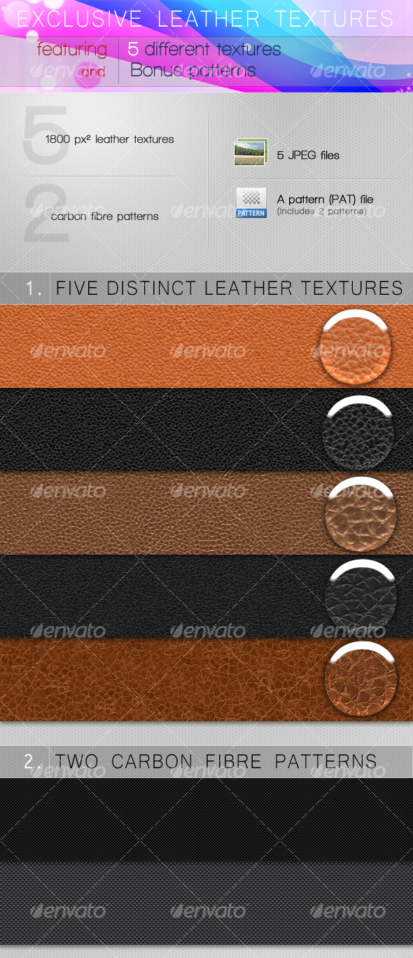 GraphicRiver EXCLUSIVE LEATHER TEXTURES 93586