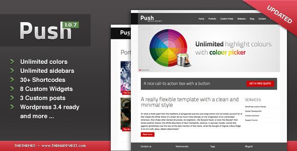 ThemeForest Push WordPress 588386