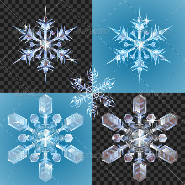 Christmas Snowflake design elements - Christmas Seasons/Holidays