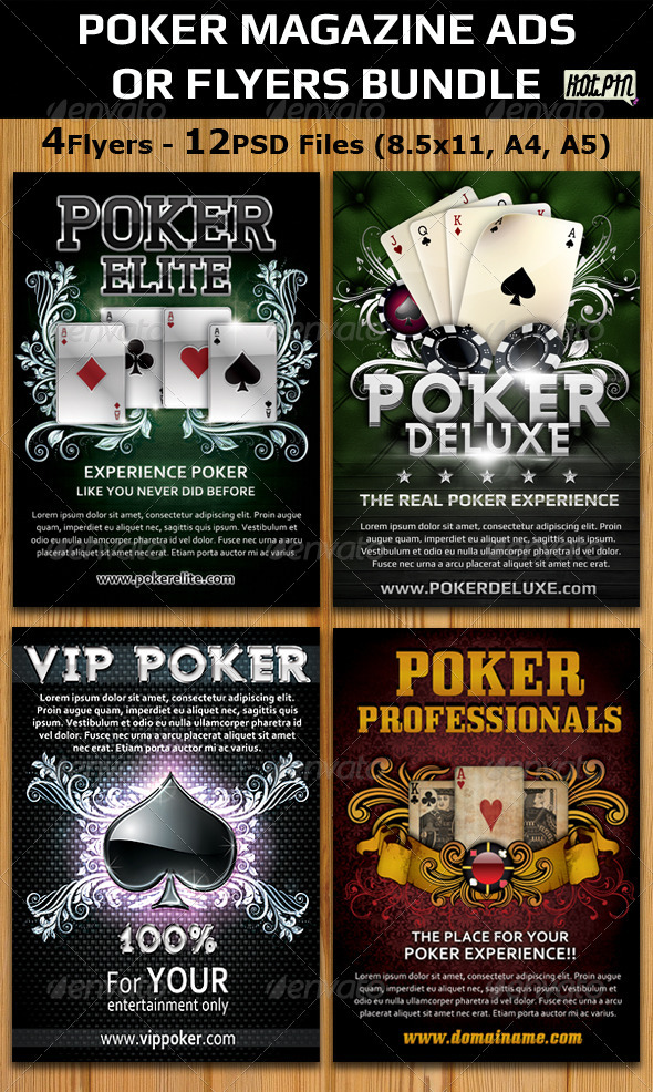 Advertising Flyer Template | Poker magazine flyer ads Bundle preview
