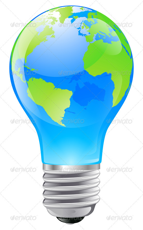 World Globe Light Bulb Concept Graphicriver