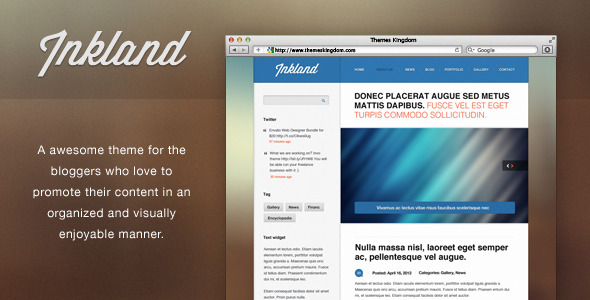 Inkland - Blog WordPress theme