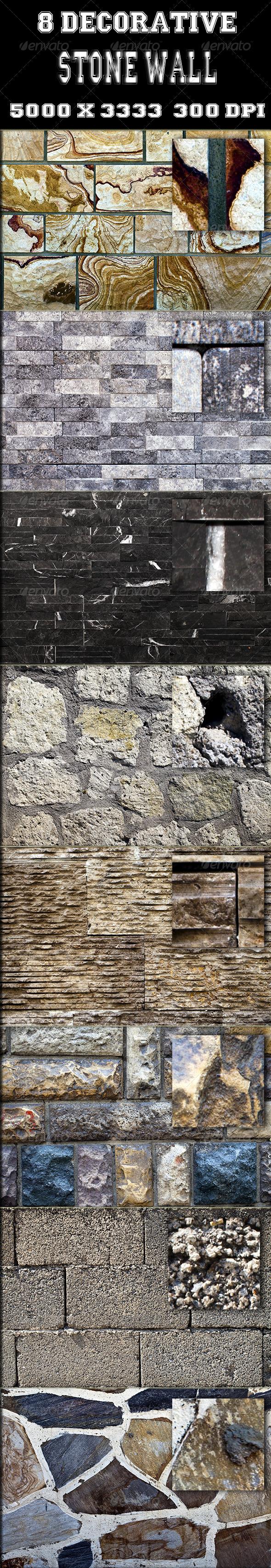GraphicRiver 8 Decorative Stone Wall Texture 2656656