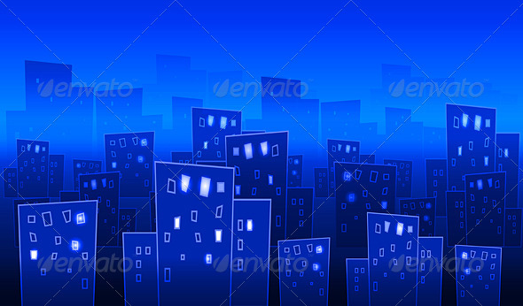 Abstract big city at night - Landscapes Nature