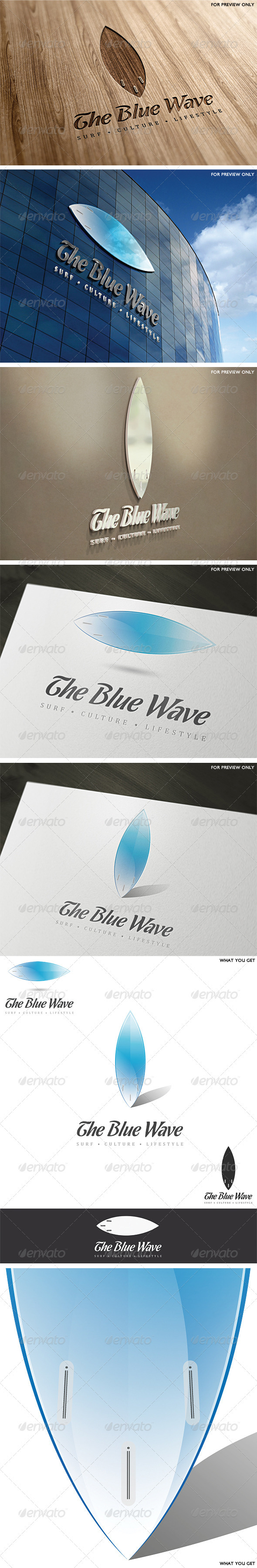 GraphicRiver The Blue Wave Logo Template 2626405
