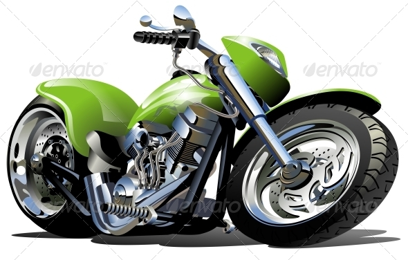 GraphicRiver Vector Cartoon Motorcycle 2665281