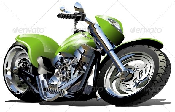 GraphicRiver Vector Cartoon Motorcycle 2665281