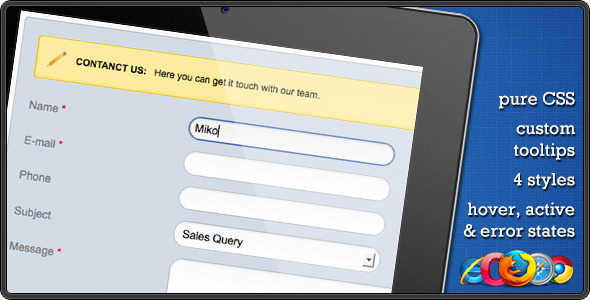 CSS Contact Form - CodeCanyon Item for Sale