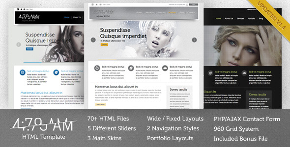 4:79AM - Multipurpose HTML Template