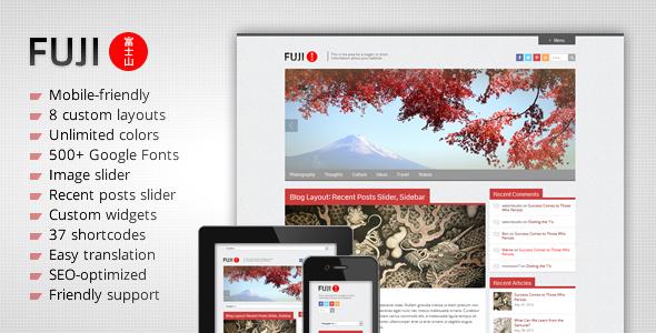 ThemeForest Fuji Clean Responsive WordPress Theme 2586473