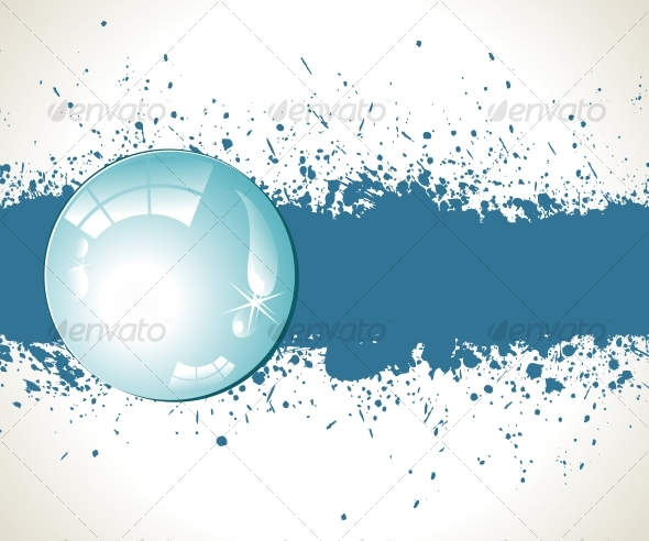 Abstract splashes background. Vector illustration - Backgrounds Decorative