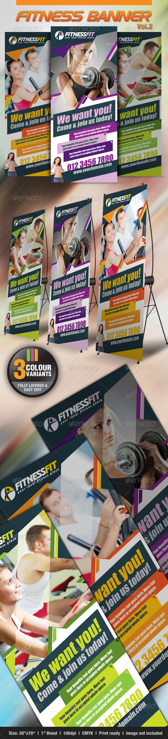 GraphicRiver Fitness Banner Vol.2 2668016