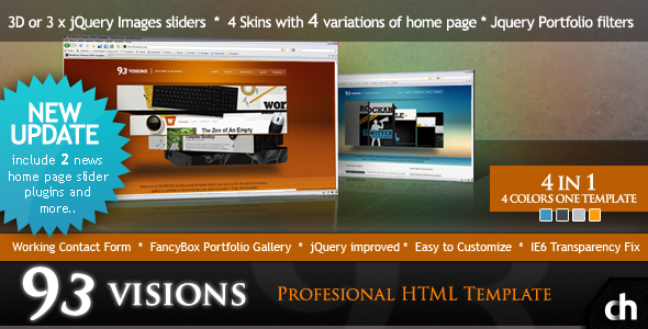 93VISIONS - 4 in 1 Modern & Professional HTML Template - 99VISIONS Preview