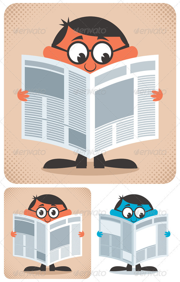 GraphicRiver Reading Newspaper 2668018