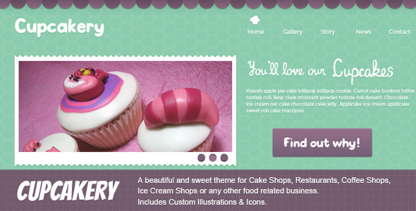ThemeForest Cupcakery 2668347
