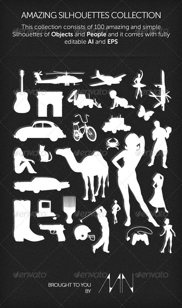 Amazing Silhouettes Collection - Miscellaneous Vectors