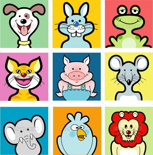 9 animal avatars