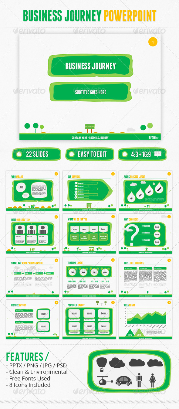 GraphicRiver Business Journey PowerPoint 2659574