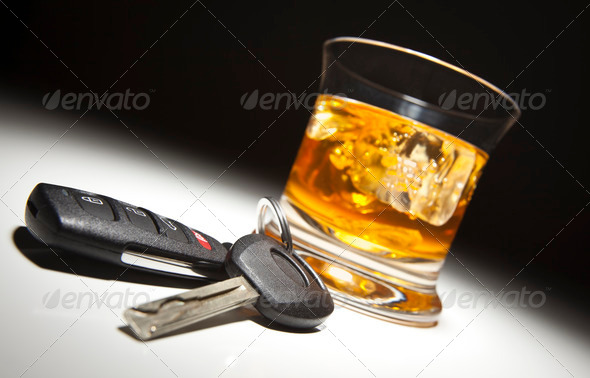 PhotoDune Alcoholic Drink and Car Keys 296059