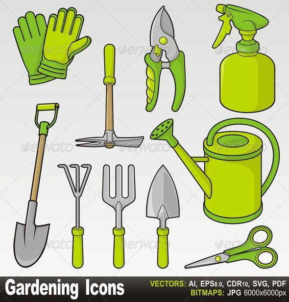 GraphicRiver Gardening icons 2672146
