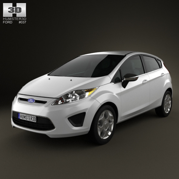 3DOcean Ford Fiesta Hatchback 5-door 2012 2672666