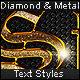 Diamond & Metal - Text Styles - GraphicRiver Item for Sale
