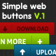 Simple Web Buttons V.1 - GraphicRiver Item for Sale