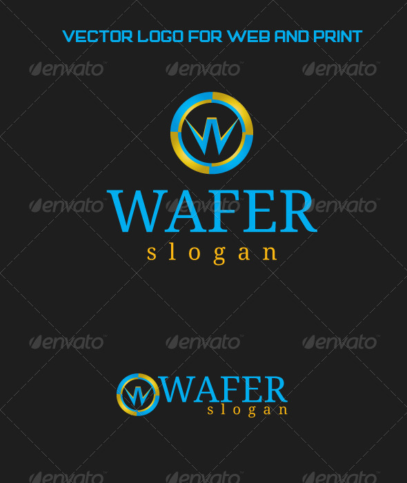 Wafer Logo Template - Letters Logo Templates