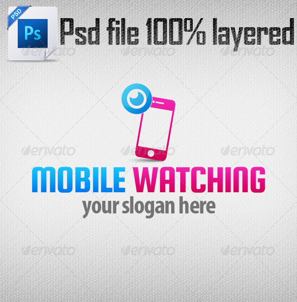 Mobile Watching Logo Template