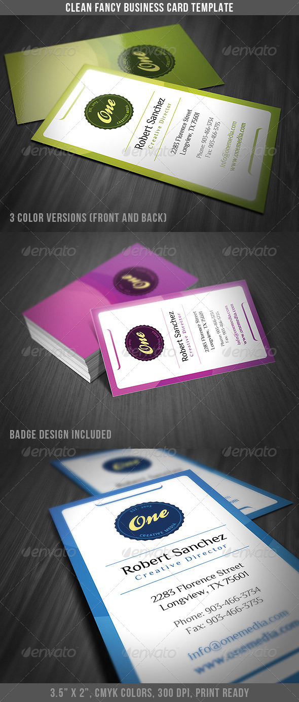 Clean and Fancy Business Card Template - Creative Business Cards