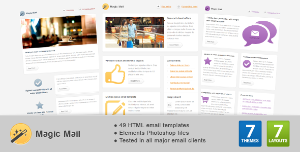 ThemeForest Magic Mail Email Template 2674628