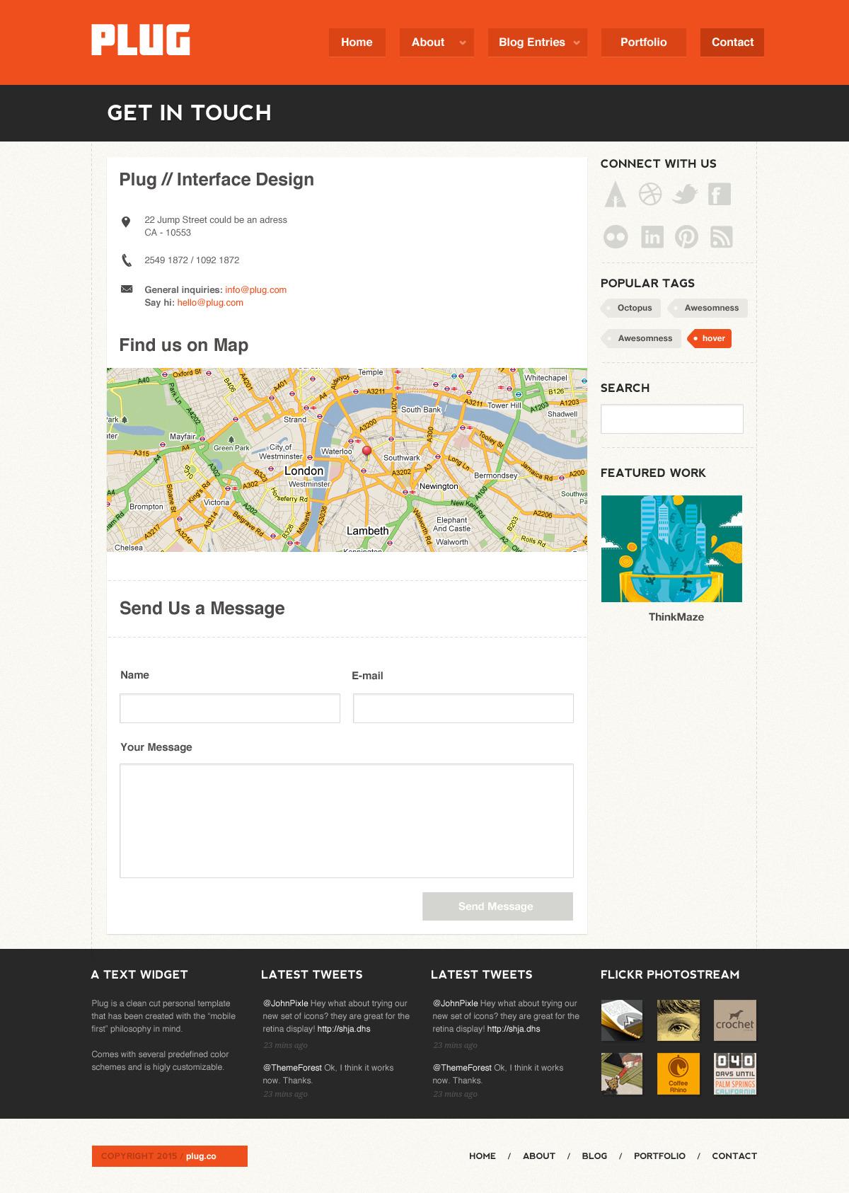 Plug - A Personal Portfolio .PSD theme