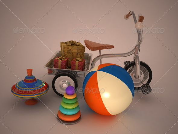beautiful child's gifts - Stock Photo - Images