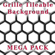 Grille Metal Backgrounds - Mega Pack - 17 patterns - GraphicRiver Item for Sale
