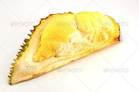 Durian isolated on white - Stock Photo - Images