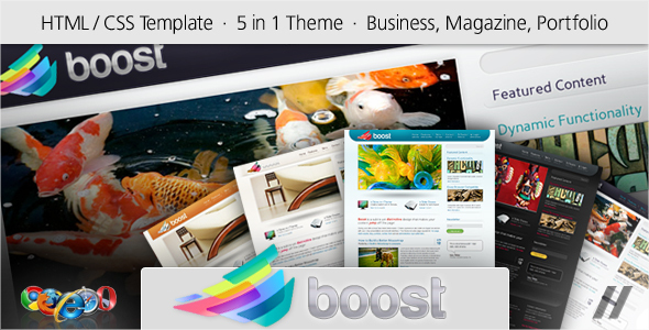 ThemeForest Boost HTML Corporate and Magazine Site 96724