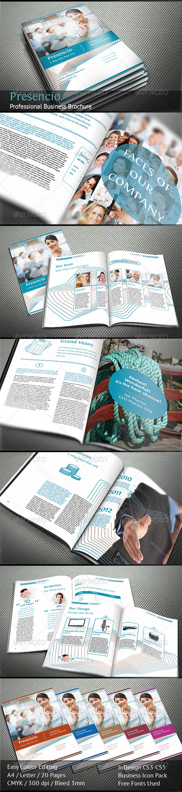 Presencio – Professional Business Brochure - Corporate Brochures
