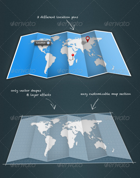 GraphicRiver Fold-Up Map 296598