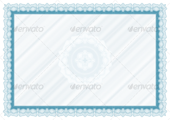 GraphicRiver Blank diploma with bakground and rosette 96743