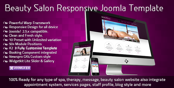 ThemeForest Beauty Salon Responsive Joomla Template CMS Themes Joomla Retail Health & Beauty 2677522
