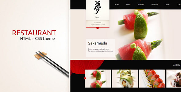 Taste of Japan - classy website of restaurant