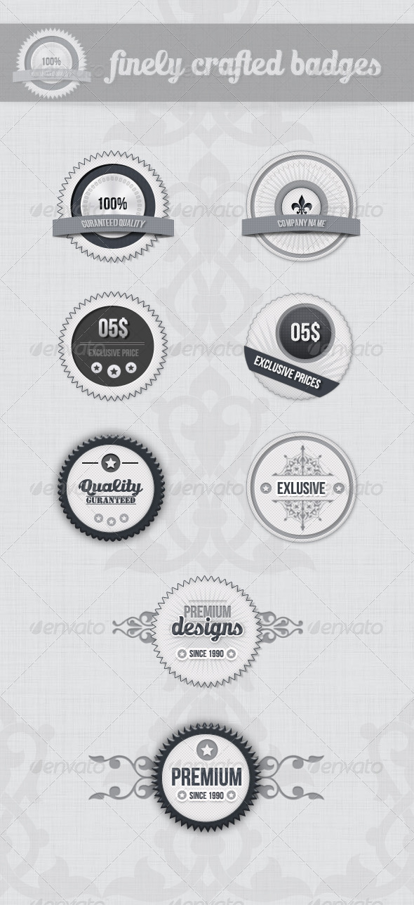 Clean And Simple Badges - Badges & Stickers Web Elements