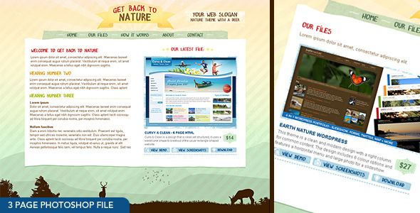 ThemeForest Get Back To Nature Photoshop 96761