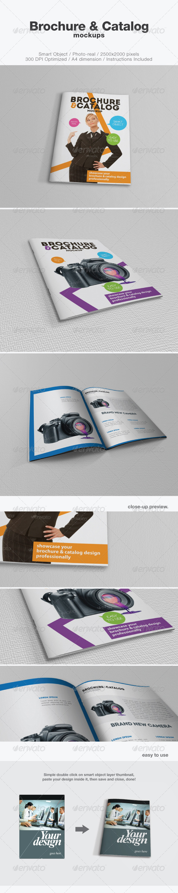 Brochure and Catalog Mockups - Brochures Print