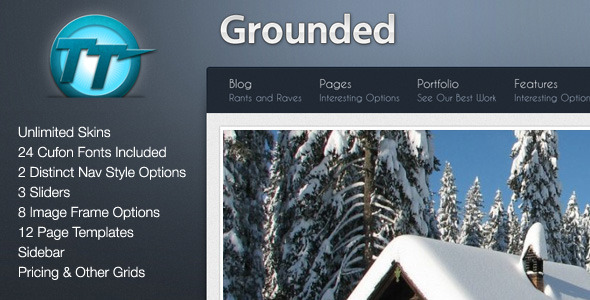 ThemeForest Grounded HTML Theme 151997