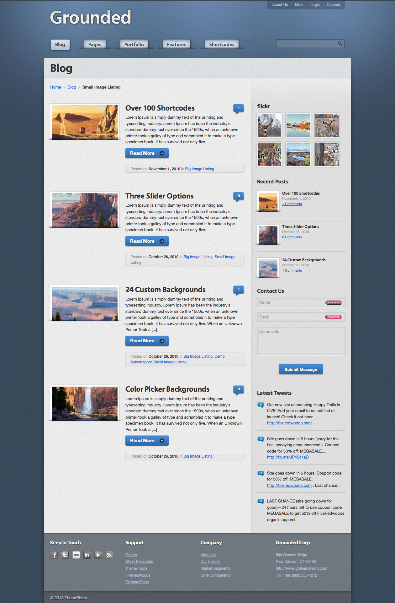 Grounded - Professional Wordpress Theme