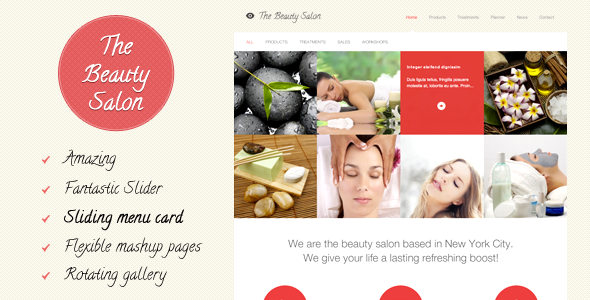 The Beauty Salon - Tema de Web de Belleza para WordPress