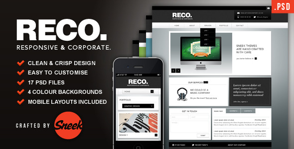 RECO - Corporate PSD Template